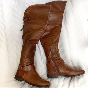 Aldo Valkyrie Over The Knee Brown Boots Size 8.5